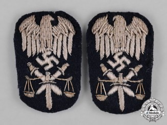 Germany, Kriegsmarine. A Set of Justice Official of the Higher Service Arm Insignia