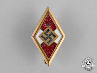 Germany, HJ. A Golden HJ Honour Badge by Deschler & Sohn