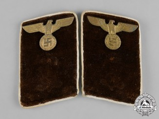 Germany, NSDAP. A Pair of Political District Leader Candidate Collar Tabs