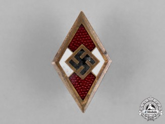 Germany, HJ. A Golden Membership Honour Badge, by Wilhelm Deumer