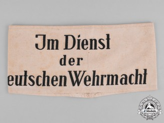 Germany, Wehrmacht. Armband for a Civilian in Wehrmacht Service