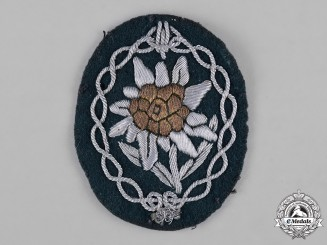 Germany, Heer. A Heer (Army) Gebirgsjäger (Mountain Troops) Edelweiss Sleeve Insignia