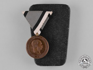Austria, Imperial. A 1873 War Medal, with Case