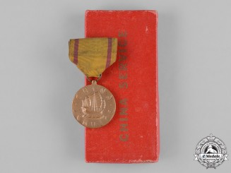 United States. A China Service Medal in Case