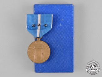 United States. A Korean Service Medal with Three Bronze Battle Stars