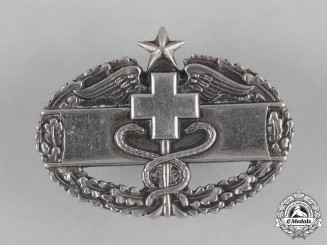 United States. A Combat Medical Badge in Silver, c.1943