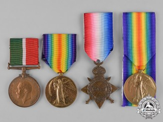 United Kingdom. A Lot of Four First War Medals