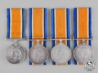 United Kingdom. A Lot of Four First War British War Medals