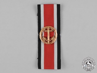 Germany, Federal Republic. A 1957 Kriegsmarine Honour Roll Clasp with Ribbon