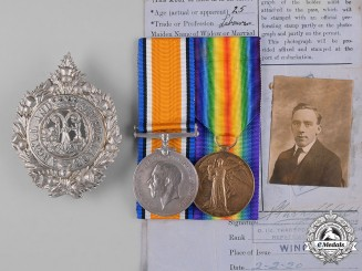 United Kingdom. A First War Pair, to Private Alexander Wilson, Argyle and Sutherland Highlanders