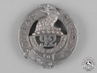 "Canada. A 92nd Infantry Battalion ""48th Highlanders"" Glengarry Badge, c.1915"
