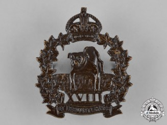 Canada. An 18th Manitoba Mounted Rifles Cap Badge
