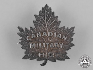 Canada. A Military Headquarters Officer's Cap Badge, c.1916