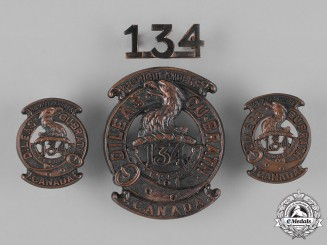 "Canada. A 134th Infantry Battalion ""48th Highlanders"" Insignia Set, c.1915"