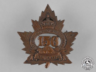 "Canada. A 156th Infantry Battalion ""156th Leeds and Grenville Battalion"" Cap Badge"