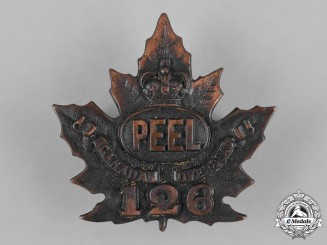 "Canada. A 126th Infantry Battalion ""Peel Battalion"" Cap Badge, c.1916"