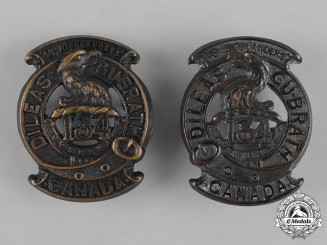 "Canada. A 134th Infantry Battalion ""48th Highlanders"" Collar Tab Pair"