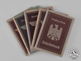 Germany, Third Reich. A Lot of Five Second War Period Labour Books