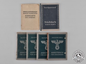 Germany, Third Reich. A Lot of Six Second War Period Labour Books