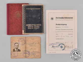 Germany, Third Reich. A Group of Third Reich Period Identification Documents