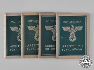 Germany, Third Reich. A Lot of Work Books for Foreign Labourers in the Third Reich