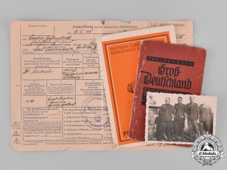 Germany, Third Reich. A Lot of Second War Period Documents & Identification Cards