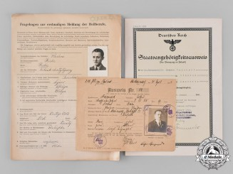 Germany, Third Reich. A Lot of Third Reich Period Identification and Military Service Documents