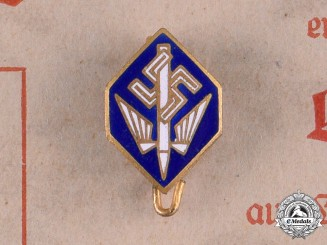 Germany, Third Reich. A Stenographer's Association Merit Badge with Document