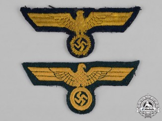 Germany, Kriegsmarine. A Pair of Breast Eagle Insignia