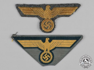 Germany, Wehrmacht. A Pair of Coastal Artillery Breast Eagle Insignia