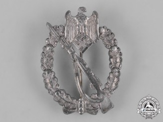 Germany, Heer. An Infantry Assault Badge, Silver Grade, by C.E. Juncker