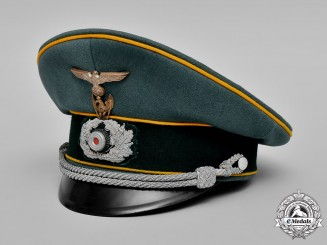 Germany, Heer. An Army Cavalry Officer's Visor Cap