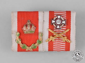 Austria, Imperial. A First War Austrian Ribbon Bar