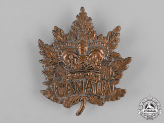 Canada. A Boer War Era Field-Made Canadian Militia Pith Helmet Cap Badge, c. 1900