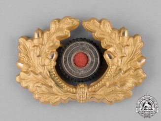 Germany, Heer. A Heer (Army) General's Visor Cap Cockade and Wreath
