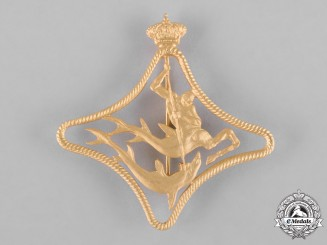 Italy, Kingdom. A Regia Marina Anti-Submarine Vessels War Navigation Badge, c.1942