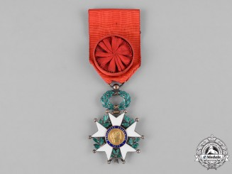 France, III Republic. An Order of the Legion of Honour, IV Class Officer, c.1955