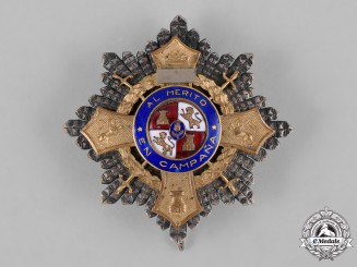 Spain, Franco Period. A War Cross Breast Star, c.1940