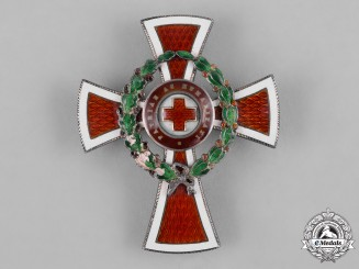 Austria, Imperial. An Honour Decoration of the Red Cross, Officer's Cross with War Decoration, by  G.A. Scheid, c.1918