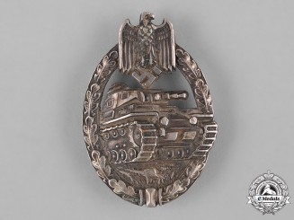 Germany, Heer. A Panzer Assault Badge, Silver Grade, by C.E. Juncker