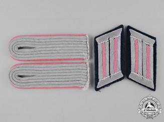 Germany, Heer. A Set of Lieutenant Panzerjäger Shoulder Boards and Collar Tabs