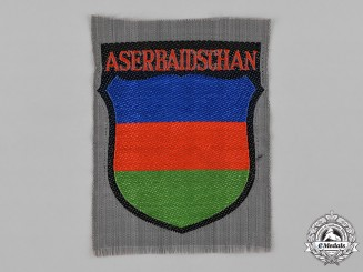 Germany, Third Reich. An Azerbaijani Volunteer Service Sleeve Insignia
