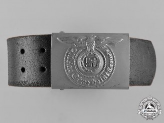 Germany, SS. A  Waffen-SS NCO/EM Belt and Buckle
