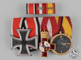 Germany, Wehrmacht. A Second War/Spanish Civil War Medal Bar & Ribbon Bar
