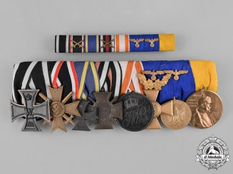 Germany, Wehrmacht. A First and Second War Medal with Ribbon Bar