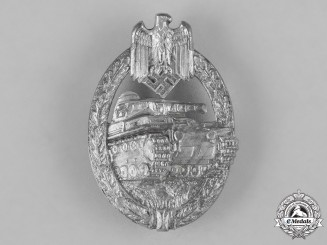 Germany, Heer. A Panzer Assault Badge, Silver Grade, by Hermann Aurich