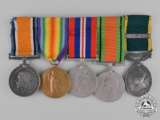 United Kingdom. An Efficiency Medal & Bar Group, Hampshire Regiment & Wiltshire Regiment