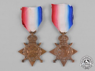 United Kingdom. Two First War 1914-15 Campaign Stars