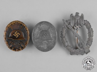 Germany, Wehrmacht. A Lot of Three Second War Badges