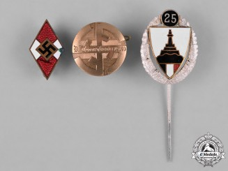 Germany, Third Reich. A Lot of Three Third Reich Period Badges